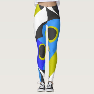 Blaue Eulengamaschen Leggings