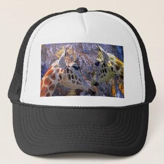 Blaue Fantasie der Höhlen-Giraffen-s Truckerkappe