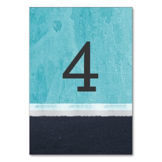 Blaue Farben-Aqua-Hochzeit Karte