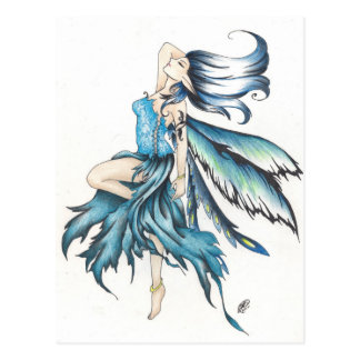 blaue Fee Postkarte