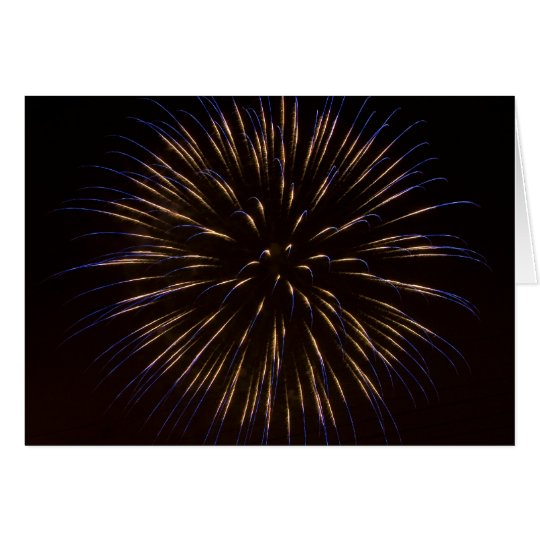 Blaue Feuerwerks-Explosion Karte