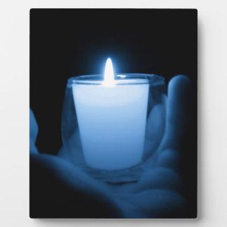 Blaue Flamme Fotoplatte