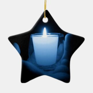 Blaue Flamme Keramik Ornament