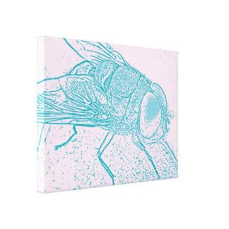 Blaue Fliege Gespannter Galerie Druck