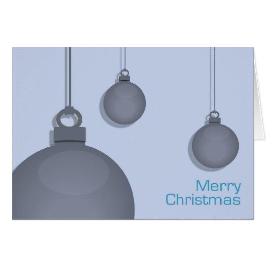 Blaue Flitter-Weihnachtskarte Karte