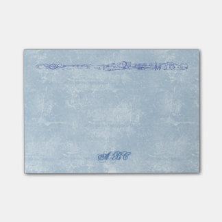 Blaue Flöten-Linie, die kundenspezifisches Post-it Klebezettel