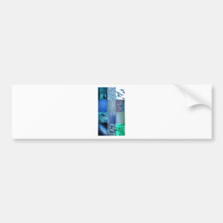 Blaue Foto-Collage Autoaufkleber