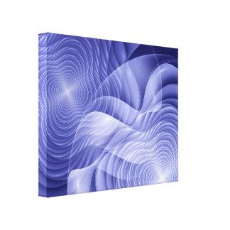 Blaue Fraktal-Blumen Leinwanddruck