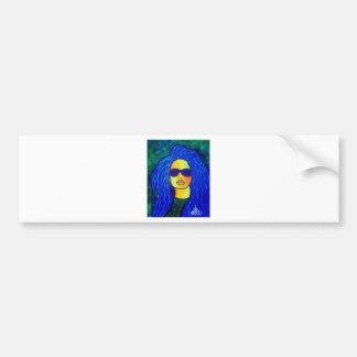 Blaue Frauen-Sonnenbrille durch Piliero Autoaufkleber