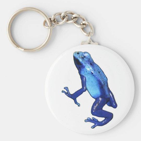blaue Froschkopie Schlüsselanhänger