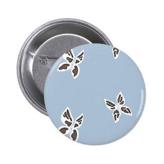 Blaue Gebirgszug-Knöpfe - schwarzer Schmetterling Runder Button 5,7 Cm