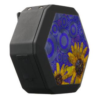 Blaue gelbe abstrakte Blumen Schwarze Bluetooth Lautsprecher