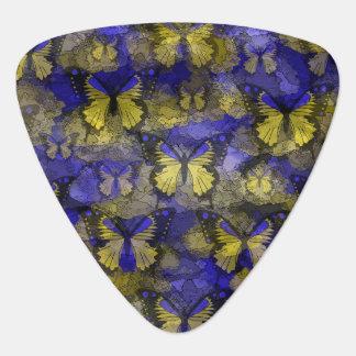 Blaue gelbe Schmetterlinge Plektrum