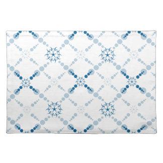 Blaue geometrische Ernte-Kreise Tisch Set