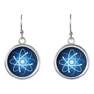 Blaue glühende Aussenseiter-Geschenke des Atom-  Ohrringe