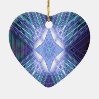 Blaue glühende Sternchen-Vereinbarung Keramik Ornament