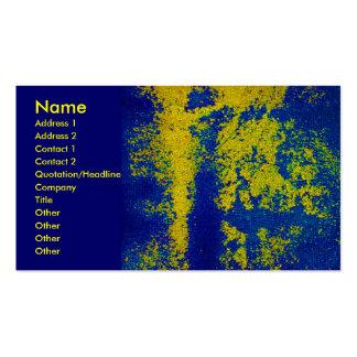 Blaue Golddesigner-Visitenkarte Visitenkarten