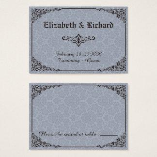 Blaue gotische viktorianische visitenkarte