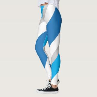 Blaue/graue gestreifte Gamaschen 1 Leggings