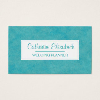 Blaue/grüne Aquarell-Wäsche-Malerei, 2-Sided Visitenkarte