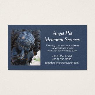 Blaue Haustier-Schutzengel-Gedenkveranstaltungen Visitenkarte