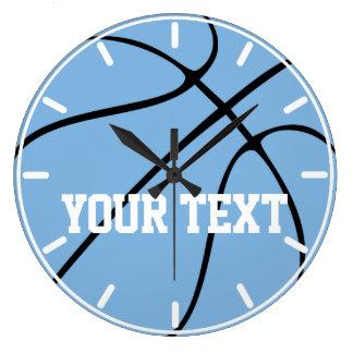 Blaue/hellblaue Basketball-Uhr kundenspezifischen Große Wanduhr