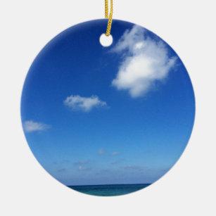 Blaue Himmel in Cozumel Keramik Ornament