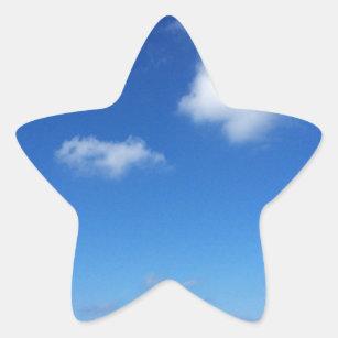 Blaue Himmel in Cozumel Stern-Aufkleber