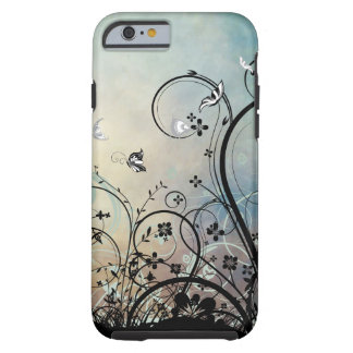 Blaue Himmel u. Schmetterlinge iPhone 6 Fall Tough iPhone 6 Hülle