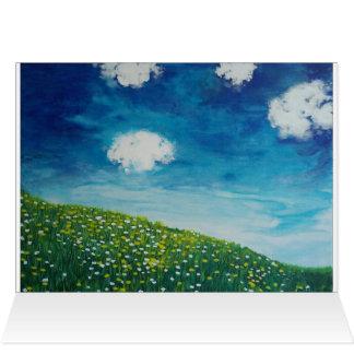 Blaue Himmel u. sonniger Abhang Grußkarte