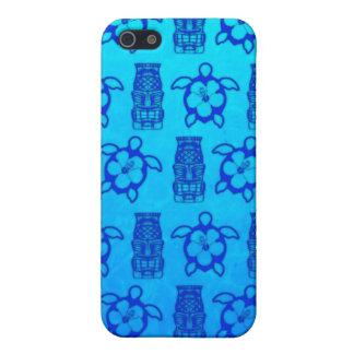 Blaue Honu und Tiki Maske Hülle Fürs iPhone 5