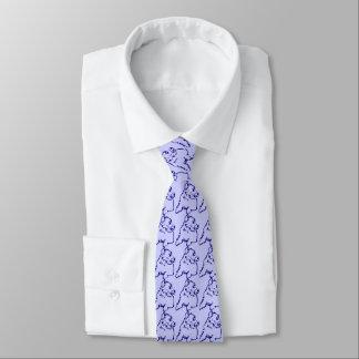 Blaue HundeKrawatte Personalisierte Krawatte