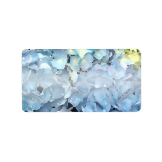 Blaue Hydrangea-Blumen Adressetiketten