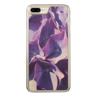 Blaue Hydrangea-Blumen-nahes hohes Foto Carved iPhone 8 Plus/7 Plus Hülle