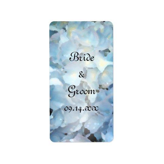 Blaue Hydrangea-Gastgeschenk Hochzeits-Umbauten Adressaufkleber