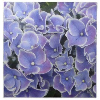 Blaue Hydrangea-Muster-Stoff-Serviette Serviette