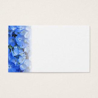 Blaue Hydrangea-Raum-Eskorte-Karten Visitenkarte