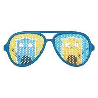 Blaue Ingwer-Katzen-erwachsene Retro Piloten Sonnenbrillen
