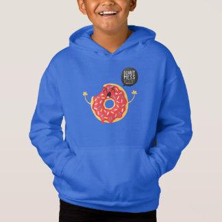 Blaue Jungenhoodie-coole Krapfen-Biss-Verwirrung Hoodie