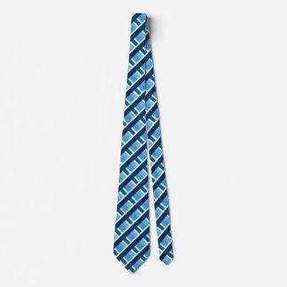 Blaue karierte Krawatte