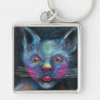 Blaue Katze Schlüsselanhänger