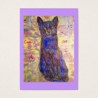 blaue Katze Visitenkarte