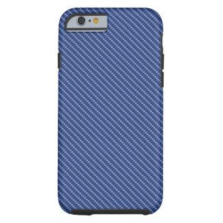 Blaue Kohlenstoff-Faser-Basis Tough iPhone 6 Hülle