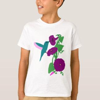 Blaue Kolibri-u. Winden-Rebe T-Shirt