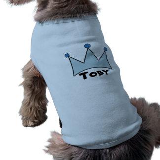 Blaue königliche Kronen-personalisierte T-Shirt