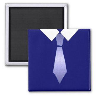 Blaue Krawatten-Kunst-Geschenke Kühlschrankmagnet