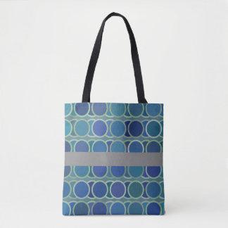 Blaue Kreis-Polka Punkt-Hoch Tasche