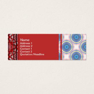 Blaue Kreise Mini Visitenkarte