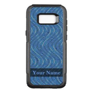 Blaue Kreise und Wellen OtterBox Commuter Samsung Galaxy S8+ Hülle