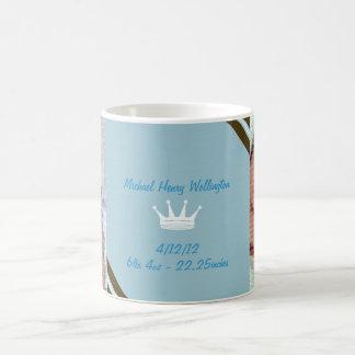 Blaue Kronen-Baby-Foto-Collagen-Tasse Tasse